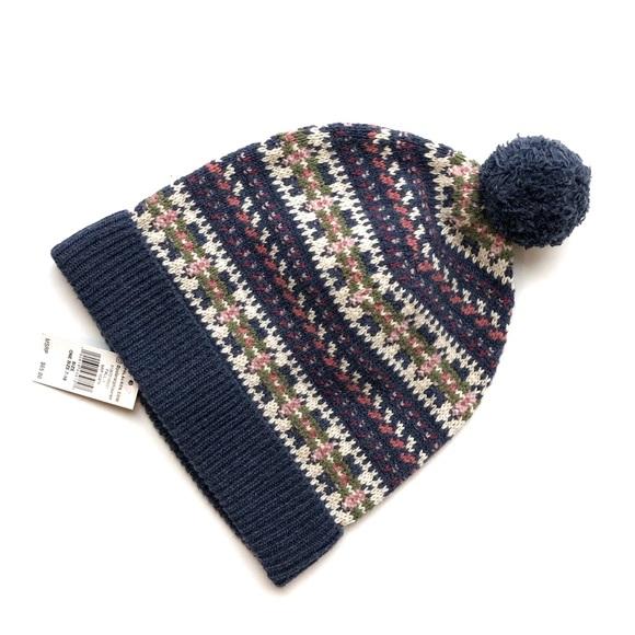51ecf0a1528 Ralph Lauren patterned Knit Pom Beanie Hat